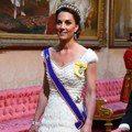 凱特王妃穿極美接見川普 她的國宴戰袍就是Alexander McQueen+黛妃皇冠