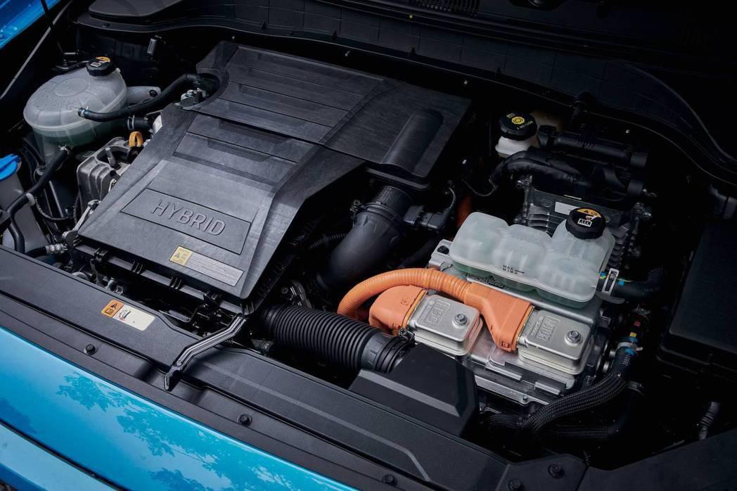 Hyundai Kona Hybrid擁有綜效馬力139hp/27kgm。 摘自...