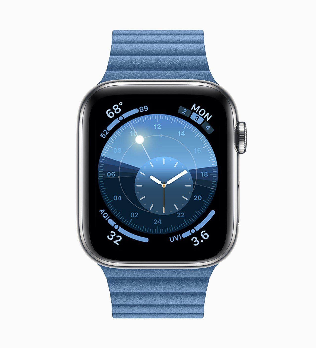 watchOS 6上大幅更新了健康和健身功能,表盤圖樣也有新增。圖/蘋果提供