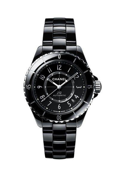 黑色J12腕表,38毫米黑色抗磨精密陶瓷搭配精鋼表殼、Caliber 12.1自...