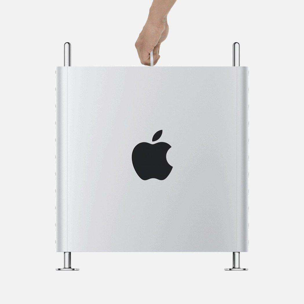 Mac Pro採用鋁製外殼設計。圖/蘋果提供