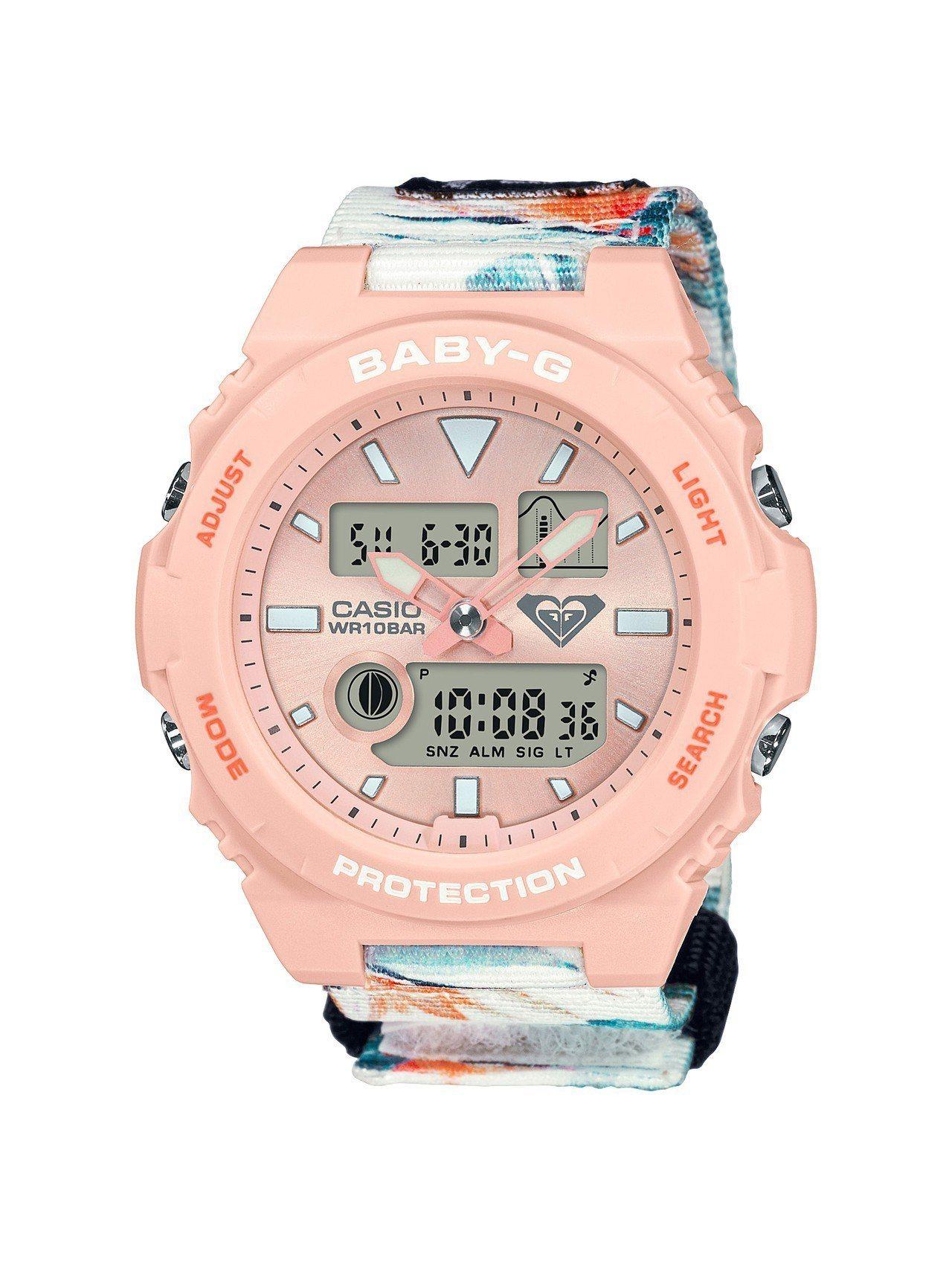 Baby-G BAX-100RX-4A表款,搭載潮汐功能與月相資訊,全台限量10...