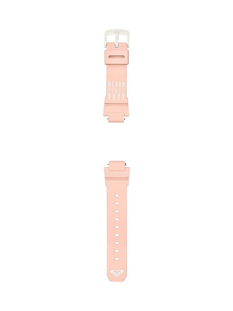 Baby-G BAX-100RX-4A表款,備有粉中帶橘的樹脂表帶,可供配戴者隨...