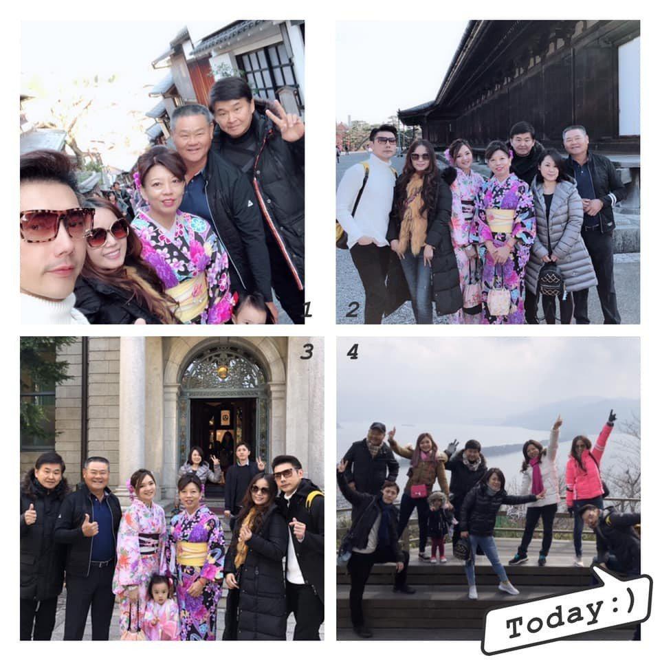包偉銘、劉依純夫婦去年曾邀賀一航、Judy一同出國。圖/摘自臉書
