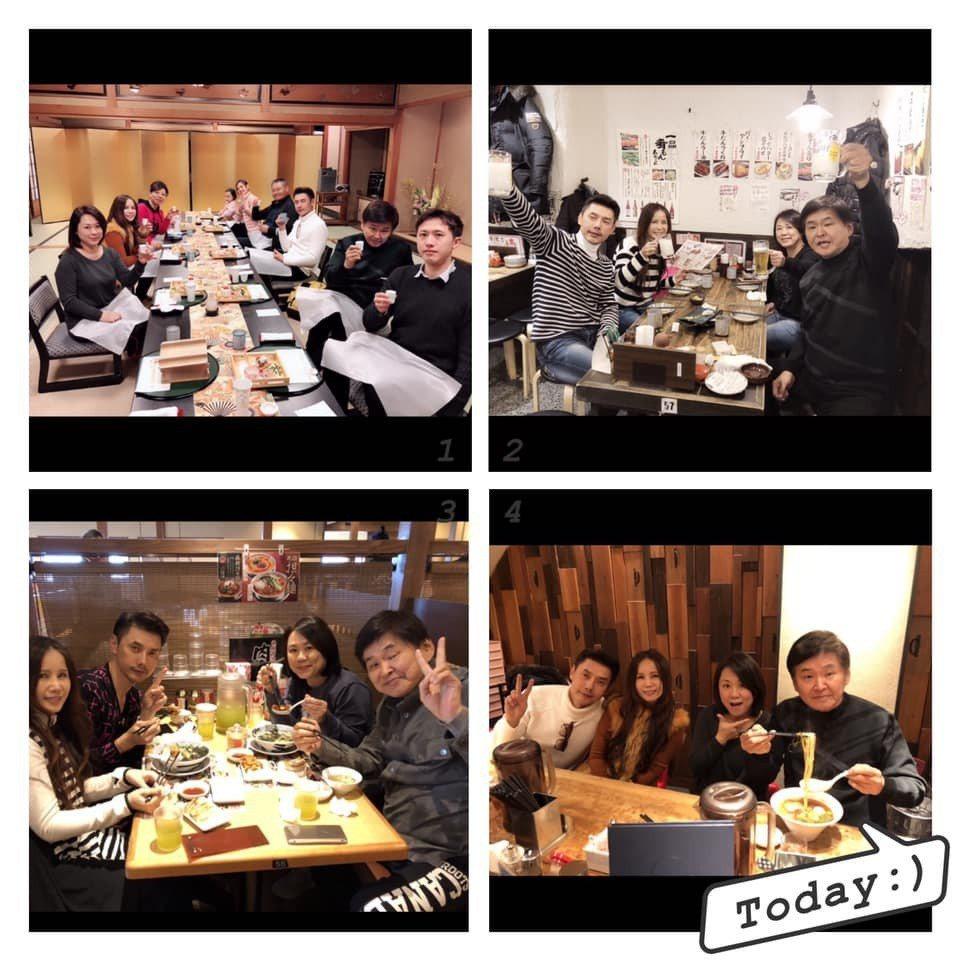 包偉銘、劉依純夫婦常和賀一航、Judy相約聚會。圖/摘自臉書