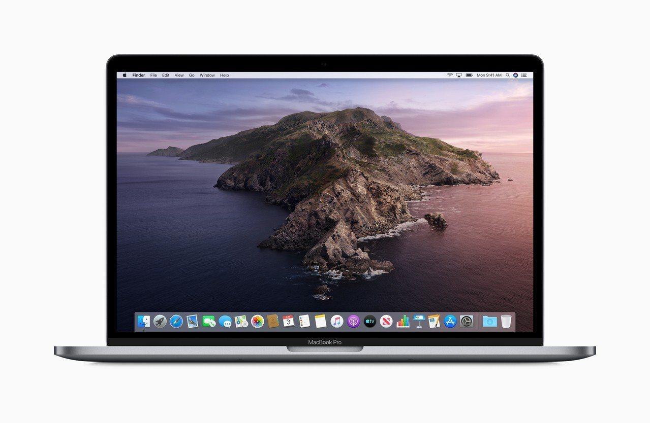 蘋果於WWDC發布最新Mac作業系統「macOS Catalina」。圖/蘋果提...