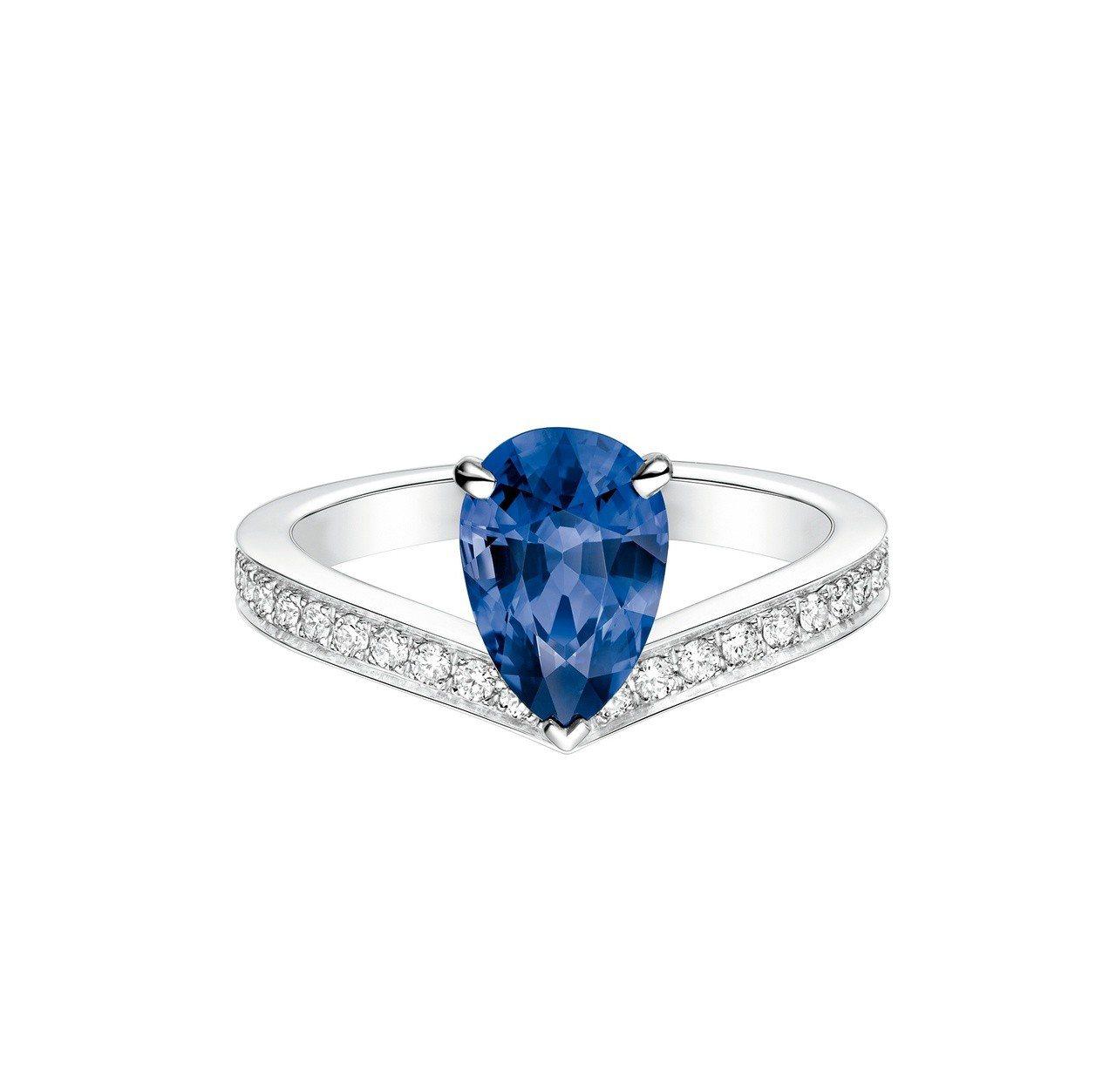 Chaumet Joséphine Aigrette 鉑金單鑽戒指,價格店洽。...