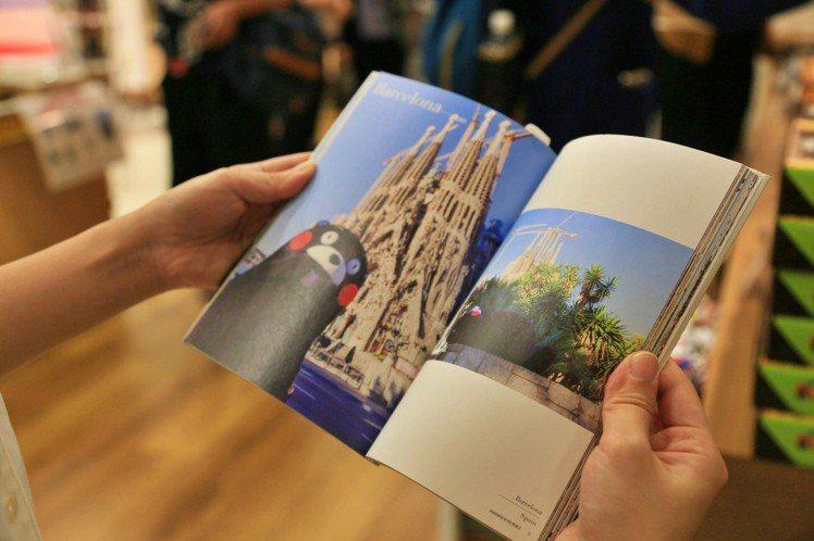 熊本熊寫真書到世界各地拍攝。記者魏妤庭/攝影