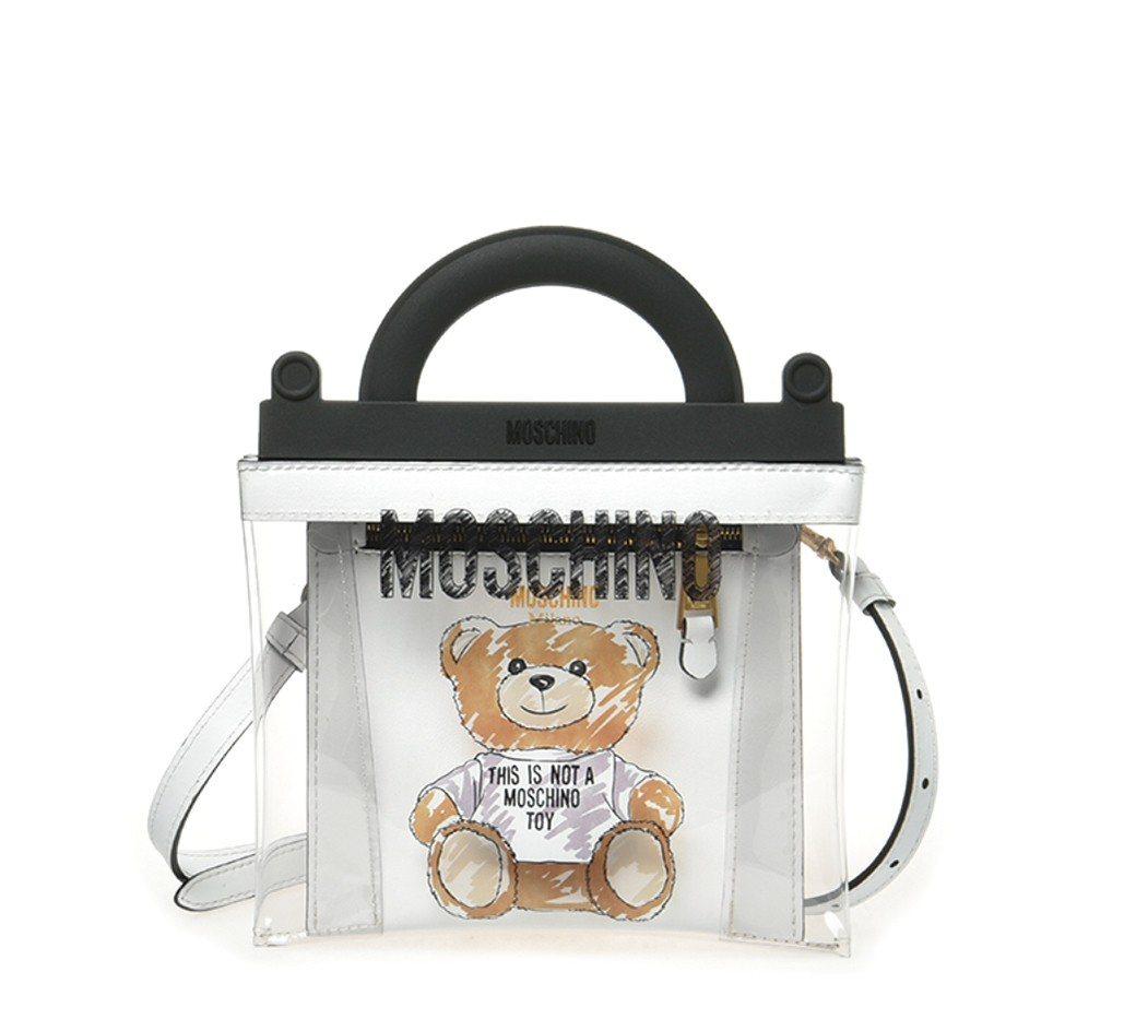 SOGO敦化館MOSCHINO塗鴉熊透明提袋,售價32,300元。圖/SOGO提...