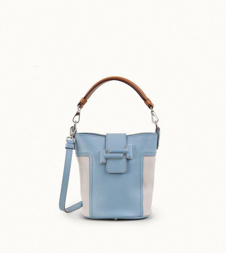 SOGO復興館TOD'S Double T皮革拼接女士水桶包,售價47,100元...
