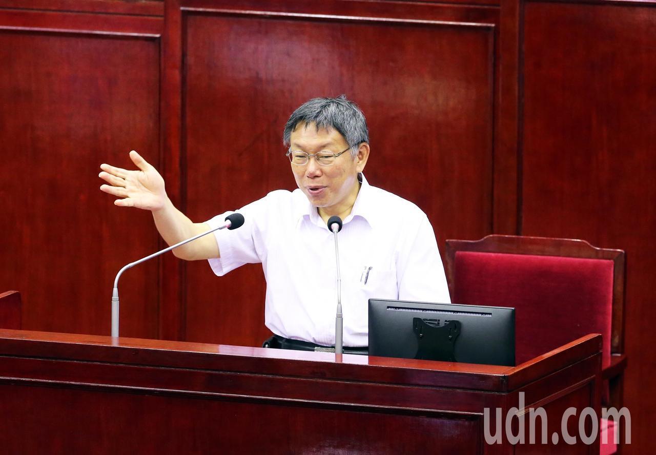 台北市長柯文哲。聯合報系資料照/記者徐兆玄攝影