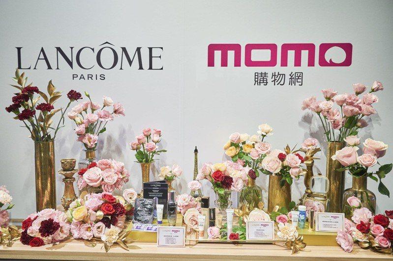 momo購物網與台灣萊雅LUXE美妝事業部結盟,全台第一家線上LANCOME蘭蔻官方旗艦店正式上線。圖/momo購物網提供