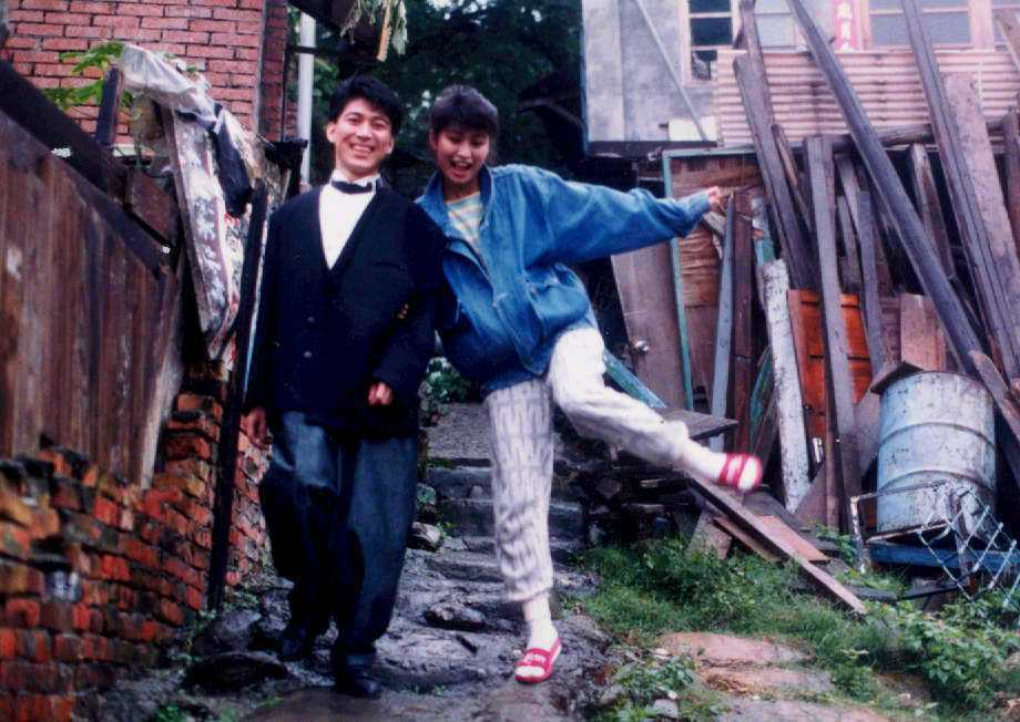 楊林(右)曾與高捷( 左)在尼羅河女兒中飾演個性迴異的兄妹。圖/聯合報系資料照