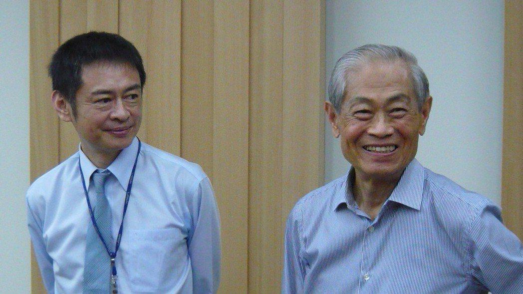 林耀英(右)與林恩平 報系資料照