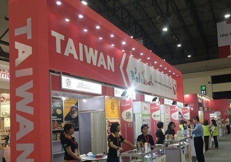 泰國食品展的台灣館數家廠商共襄盛舉。 豐華生技/提供