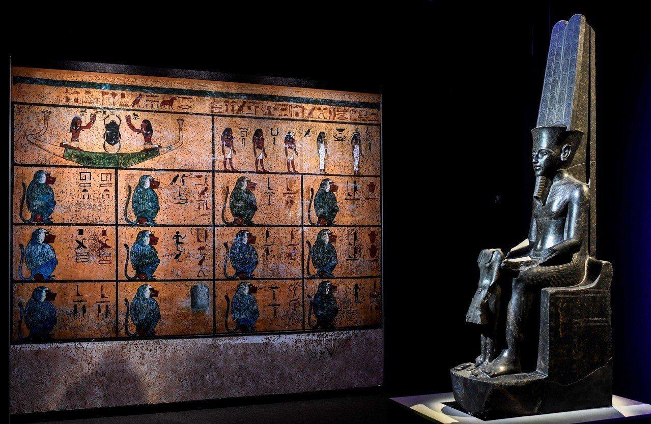 法國巴黎現正舉辦埃及法老圖坦卡門特展。 法新社