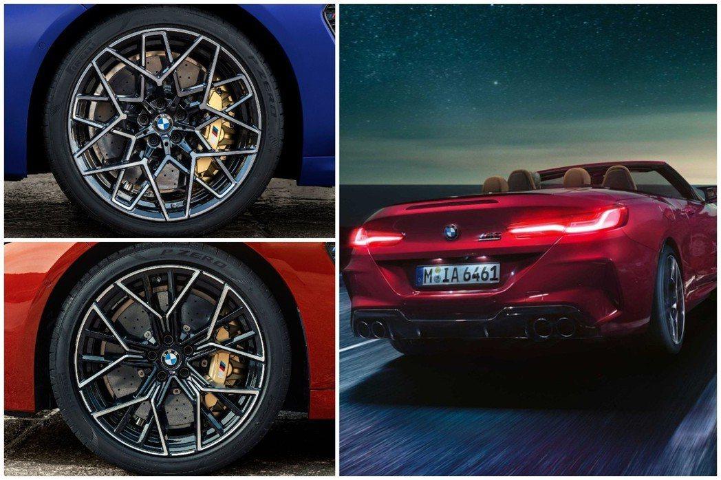全新BMW M8 Coupe/Convertible皆配置20吋鍛造鋁圈。 摘自...