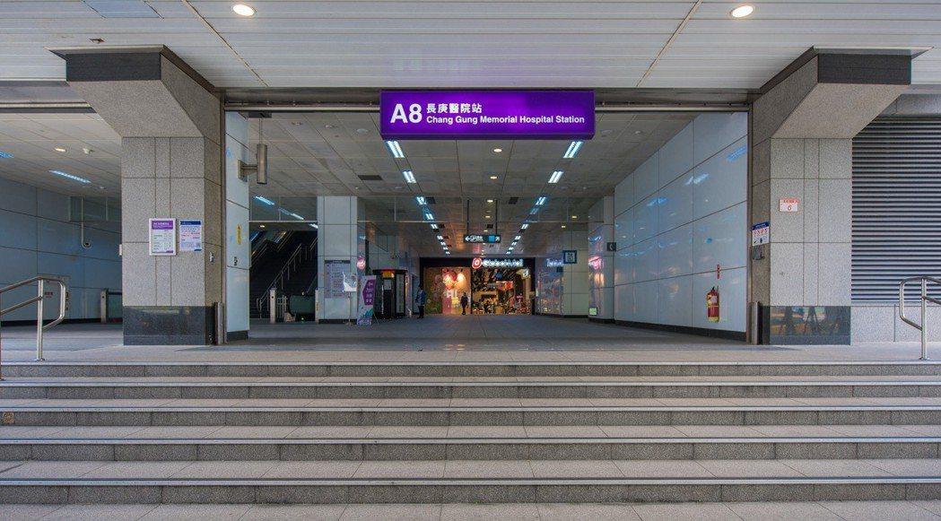 機捷A8長庚醫院站。