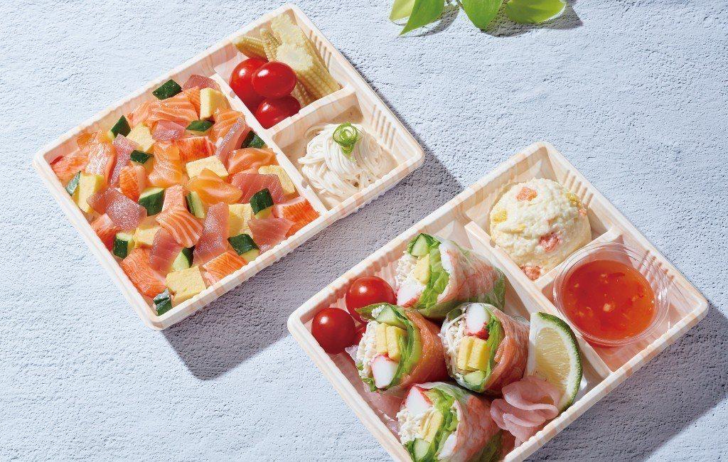 爭鮮與World Gym合作,新推出「燻鮭蝦涼卷」、「花彩散壽司」等2款聯名餐盒...