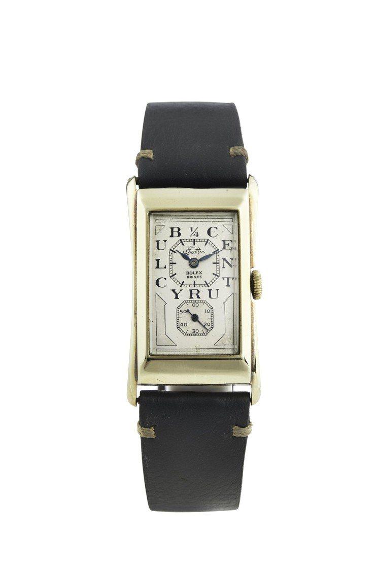 勞力士Prince「醫生表」,14K黃金手動上鍊腕表,約1930年,估價約12萬...