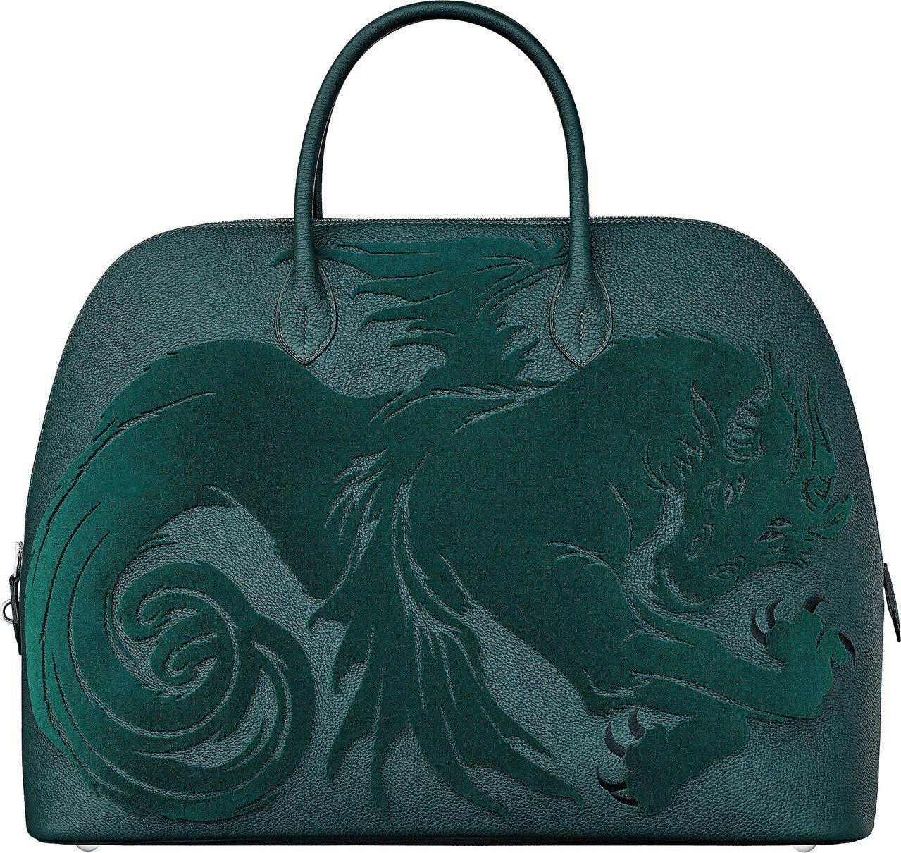 Bolide 1923系列Chimères Dragon圖紋刺繡Togo小牛皮旅...