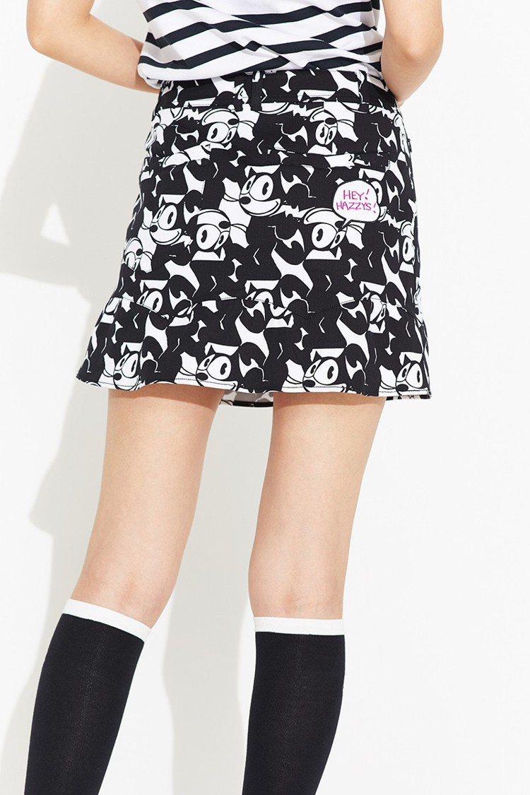 菲力貓聯名窄裙,5,680元。圖/HAZZYS提供
