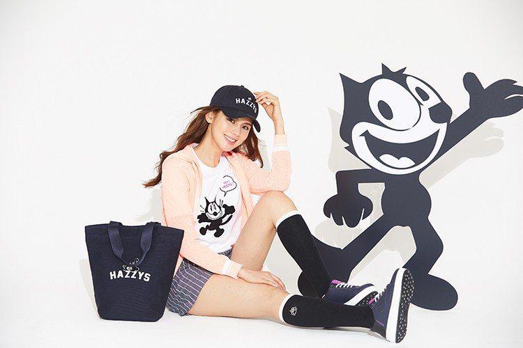 韓國服飾品牌HAZZYS近日推出菲力貓聯名系列,主打黑與白簡單的配色呈現出大人也...