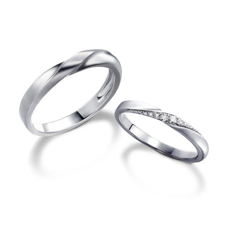 林曉同方圓之間系列對戒,幅寬2.16毫米戒指23,000起,幅寬3.39毫米戒2...