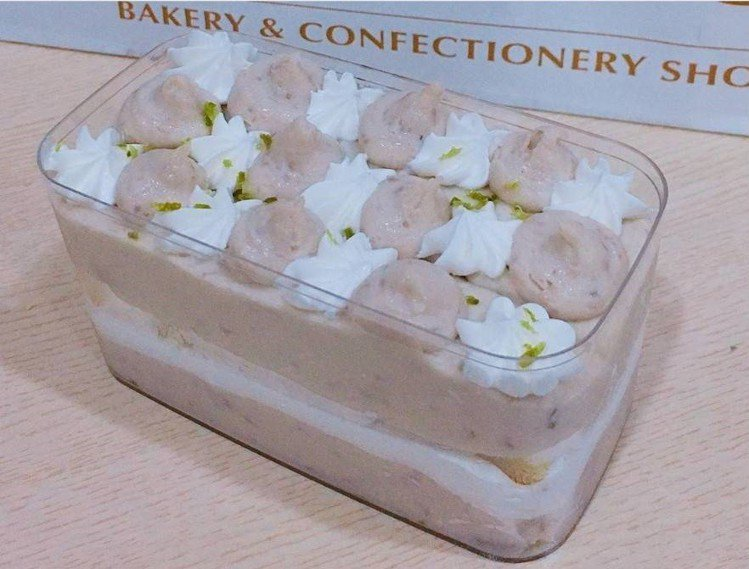 「全統西點麵包」日前曾橫掃IG的芋頭寶盒。圖/IG @ecinaj_hihs提供