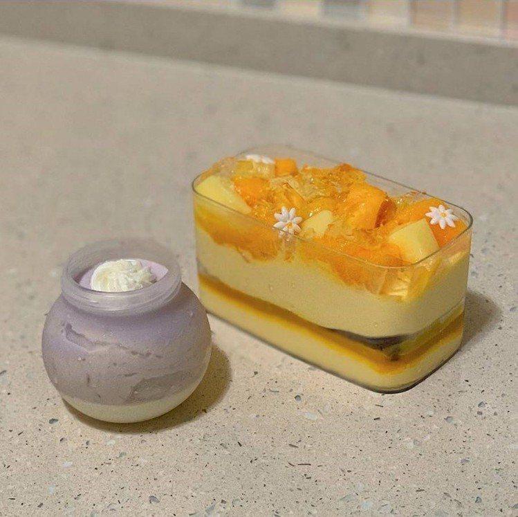 「全統西點麵包」新品芋頭奶酪與夏日的芒果寶盒。圖/IG @jamieliu126...