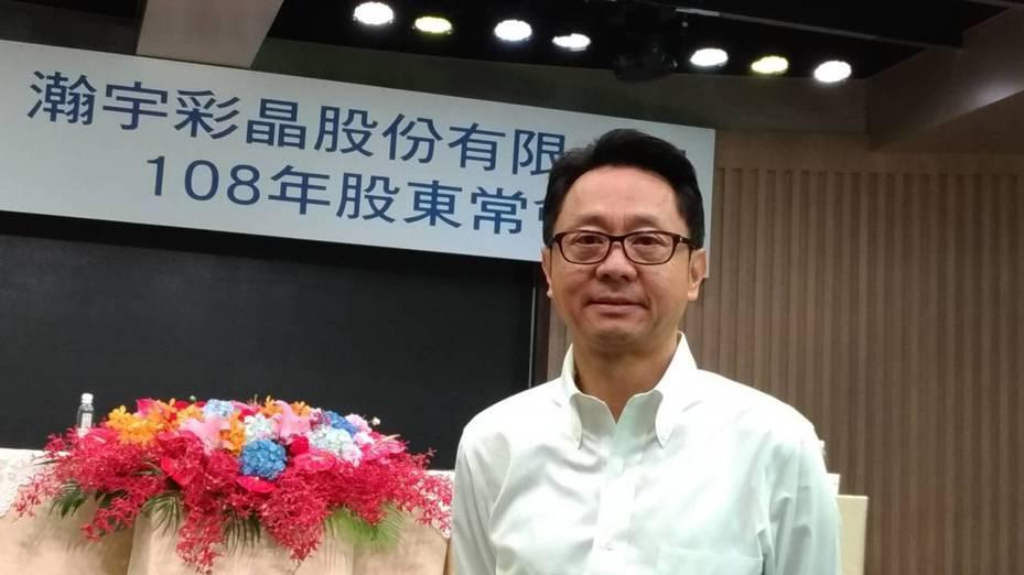 中小尺寸面板廠彩晶董事長焦佑麒。 記者張義宮/攝影