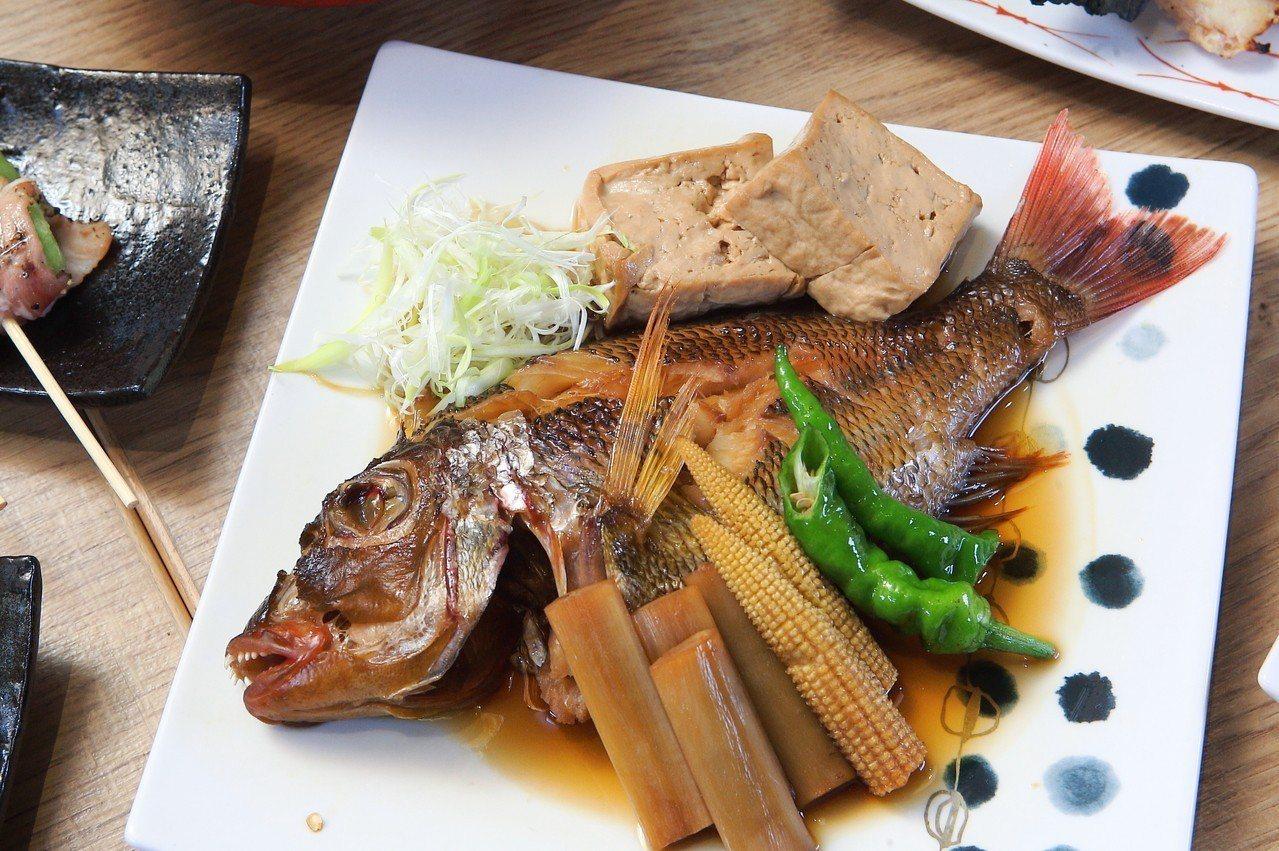 來自澎湖的海味,藉由鹽烤、酒粕、煮付等不同手法調理,更顯鮮甜。記者陳睿中/攝影