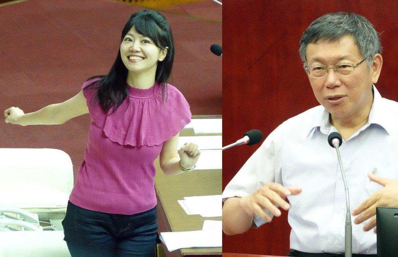 台北市長柯文哲下午在議會備詢時,被高嘉瑜議員問到「備胎市長有沒有準備?」高嘉瑜半...
