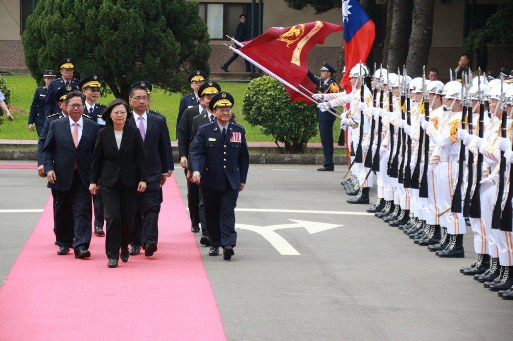 蔡英文總統昨天參加中央警察大學畢業典禮。 記者曾健祐/攝影