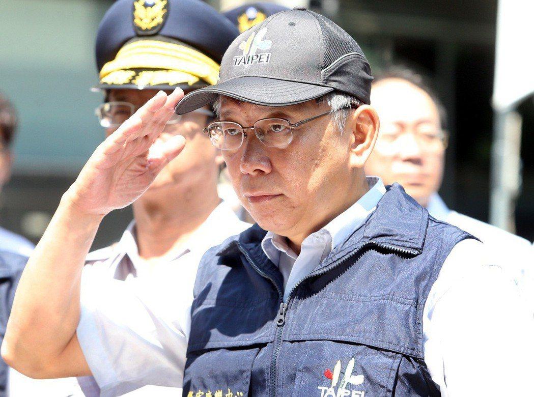 柯文哲2014年底當選台北市長後,刪除27項冗務大受員警好評。 圖/聯合報系資料...
