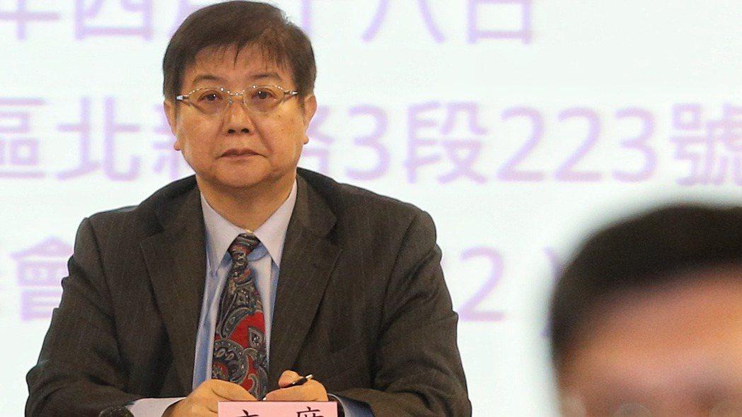 永大機電4月18日臨時股東會上,獨立董事陳世洋擔任會議主席。 記者鄭清元/攝影