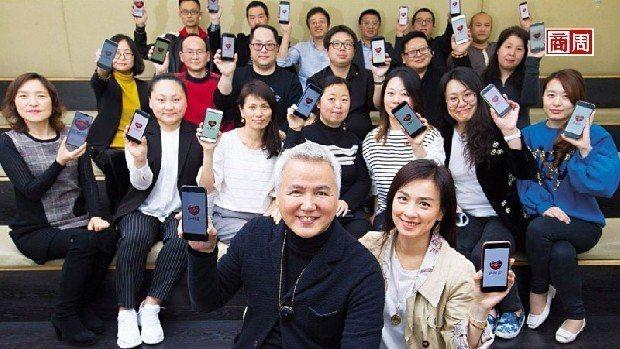 上海達爾威貿易總裁林瑞陽(前排左)。 攝影/郭涵羚