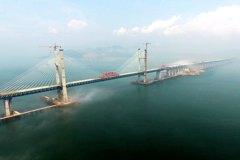 世界最大跨度橋 平潭元洪航道橋合龍