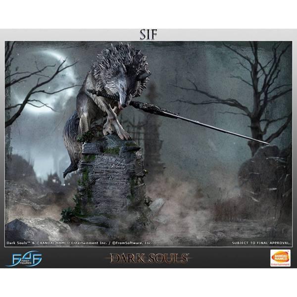 25吋《黑暗靈魂》巨狼希夫雕像。