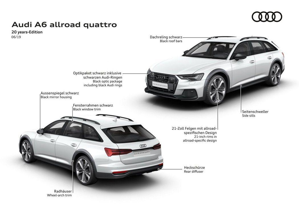 Audi A6 allroad quattro20周年紀念版。 摘自Audi