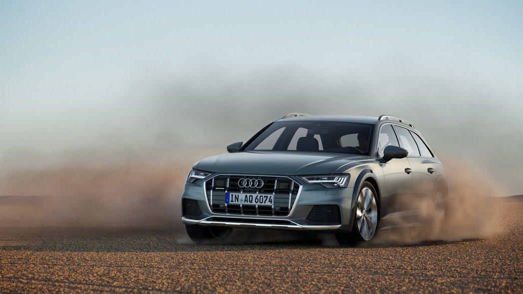 A6 allroad quattro透過拉高底盤離地高度,讓旅行車也能做適度的輕...