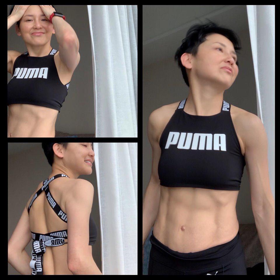 劉美君身材健美。圖/擷自臉書