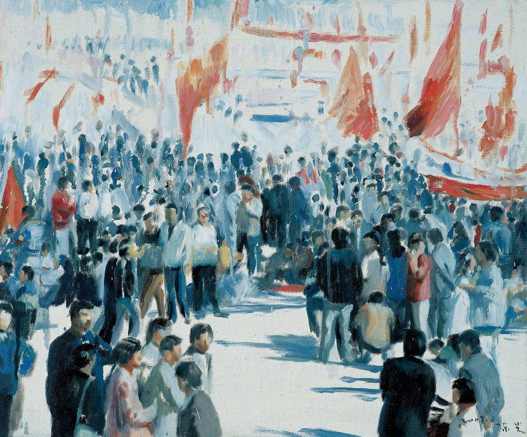 陳光的六四事件系列畫作之一。 圖/法新社,陳光創作