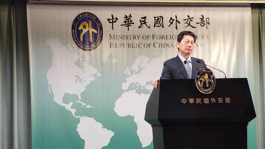 外交部發言人李憲章。 記者徐偉真/攝影
