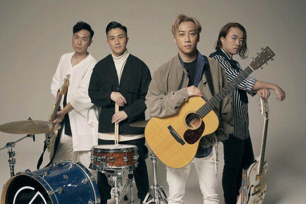 左起貝斯手CK、鼓手阿達、主唱兼吉他手Sunny、吉他手阿雞。圖/奇蹟娛樂提供
