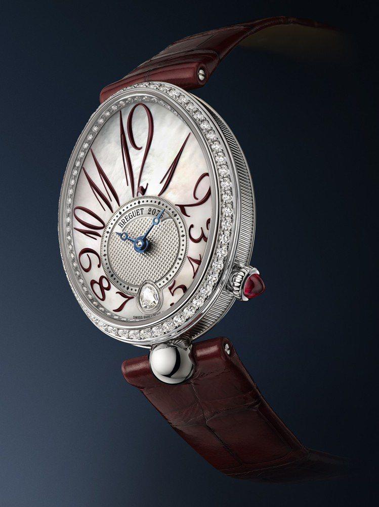 寶璣Reine de Naples那不勒斯王后系列8918腕表,18K白金表殼,...