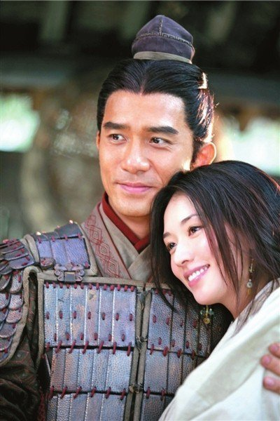 林志玲在電影「赤壁」中的夫君由梁朝偉扮演。圖/報系資料照片