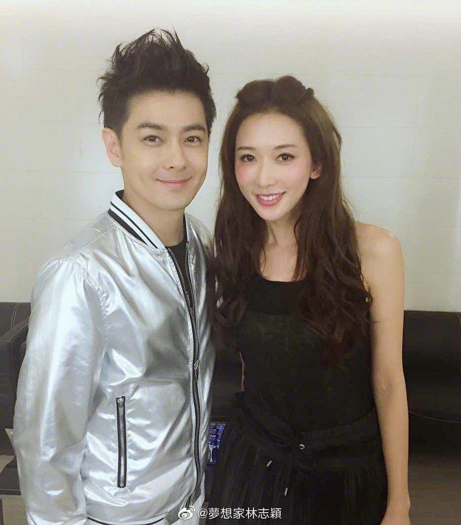 林志穎(左)與林志玲名字常被搞錯。圖/摘自微博