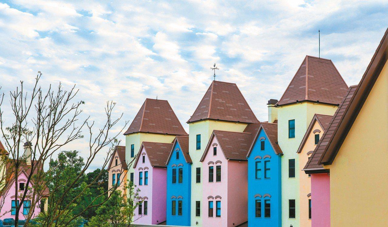 彩色屋親子區,充滿童趣。 圖/各業者提供