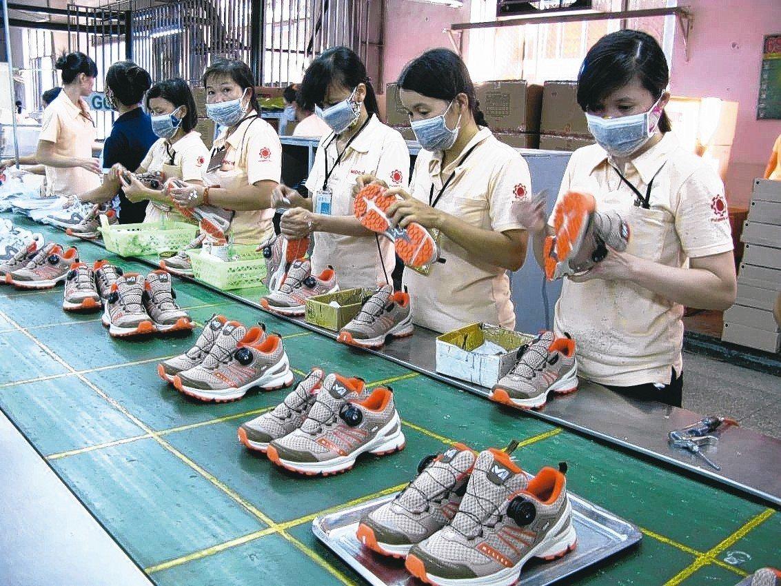 越南概念股以紡織、製鞋優先看好。 圖/聯合報系資料照片